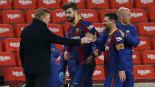 football_messi_koeman barcelone contre seville 2021 AP21062816231000