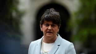 Arlene Foster, leader du DUP, le Parti unioniste démocrate, le 16 juin 2017.