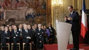 François Hollande lors de sa conférence de presse du 14 janvier 2014.