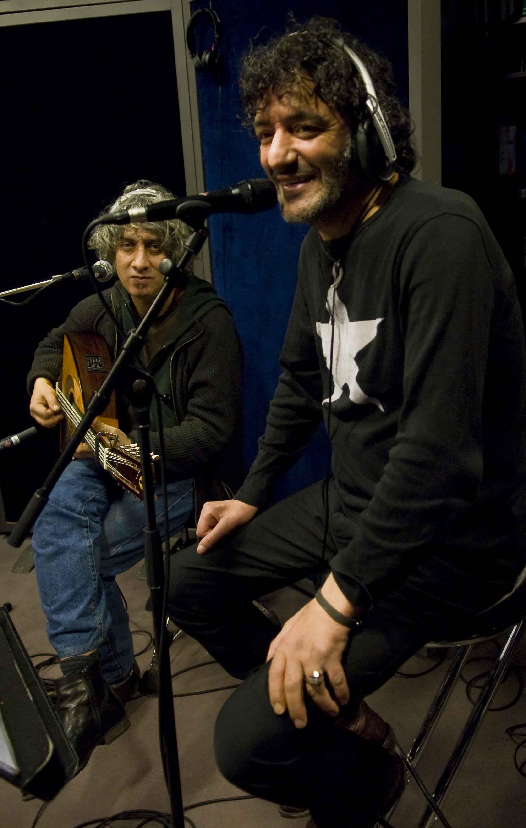 Rachid Taha au studio 136.