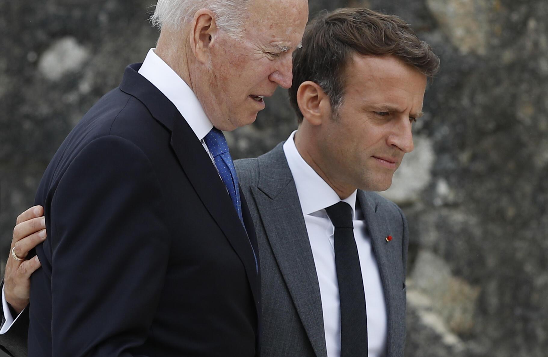 Joe Biden - Emmanuel Macron - G7