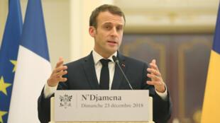 Le président Emmanuel Macron lors de la conférence de presse commune a tenu a rassurer les soldats sur le budget de la défense qu'il ne diminuera pas.
