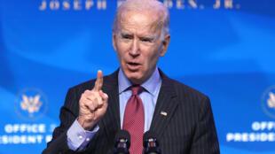 """El presidente electo de Estados Unidos, Joe Biden, recibió con agrado la noticia de que el saliente mandatario Donald Trump no prevé asistir a la toma de posesión del 20 de enero, calificándolo como """"algo bueno""""."""