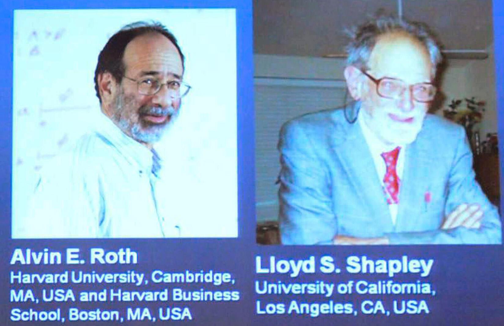 Uma dupla de norte-americanos levou o prêmio Nobel de Economia em 2012. Alvin E. Roth e Lloyd  S. Shapley