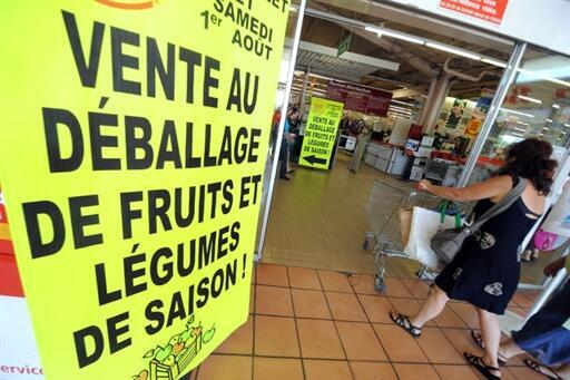 法国超市一景
