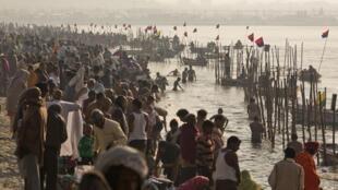 "Hindu devotees gather at the Ganges river ahead of ""Kumbh Mela"""