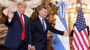 Президент США Дональд Трамп и глава Аргентины Маурисио Макри