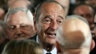 Le président Jacques Chirac à Tulle, le 15 janvier 2005.
