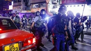 Violence during Hong Kong protests has increased, with China likening the unrest to terrorism.
