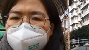 中国公民记者张展疫情中探访武汉资料图片