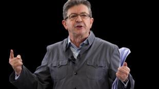 法國大選極左翼法國不屈服黨黨首梅朗雄