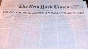 美国死于新冠人数逼近10万大关之时,周日出版的『纽约时报』头版全页刊载新冠死者名单,以志永久纪念。