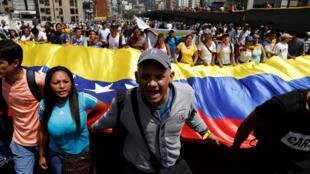 Đối lập Venezuela biểu tình tại Caracas, 04/04/2017.