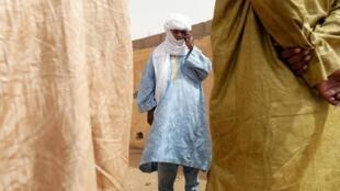 Ambéry Ag Rhissa, qui était porte-parole du Mouvement national de libération de l'Azawad (MNLA), a été l'un des derniers à voir Ghislaine Dupont et Claude Verlon en vie. Ici, à Kidal, le 3 novembre 2013.