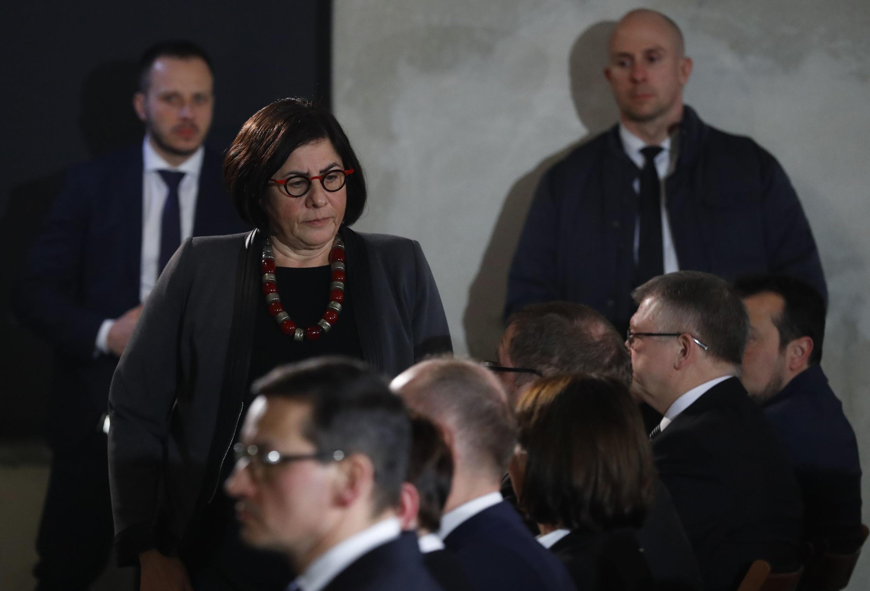 Nữ đại sứ Israël tại Pologne, bà Anna Azari, trong một lễ tưởng niệm các nạn nhân trại tập trung Auschwitz II-Birkenau, ngày 27/01/2018.