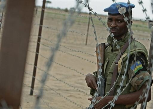 Un casque bleu rwandais au Darfour, où ont sévi les miliciens Janjawids pendant la guerre (Photo d'illustration)