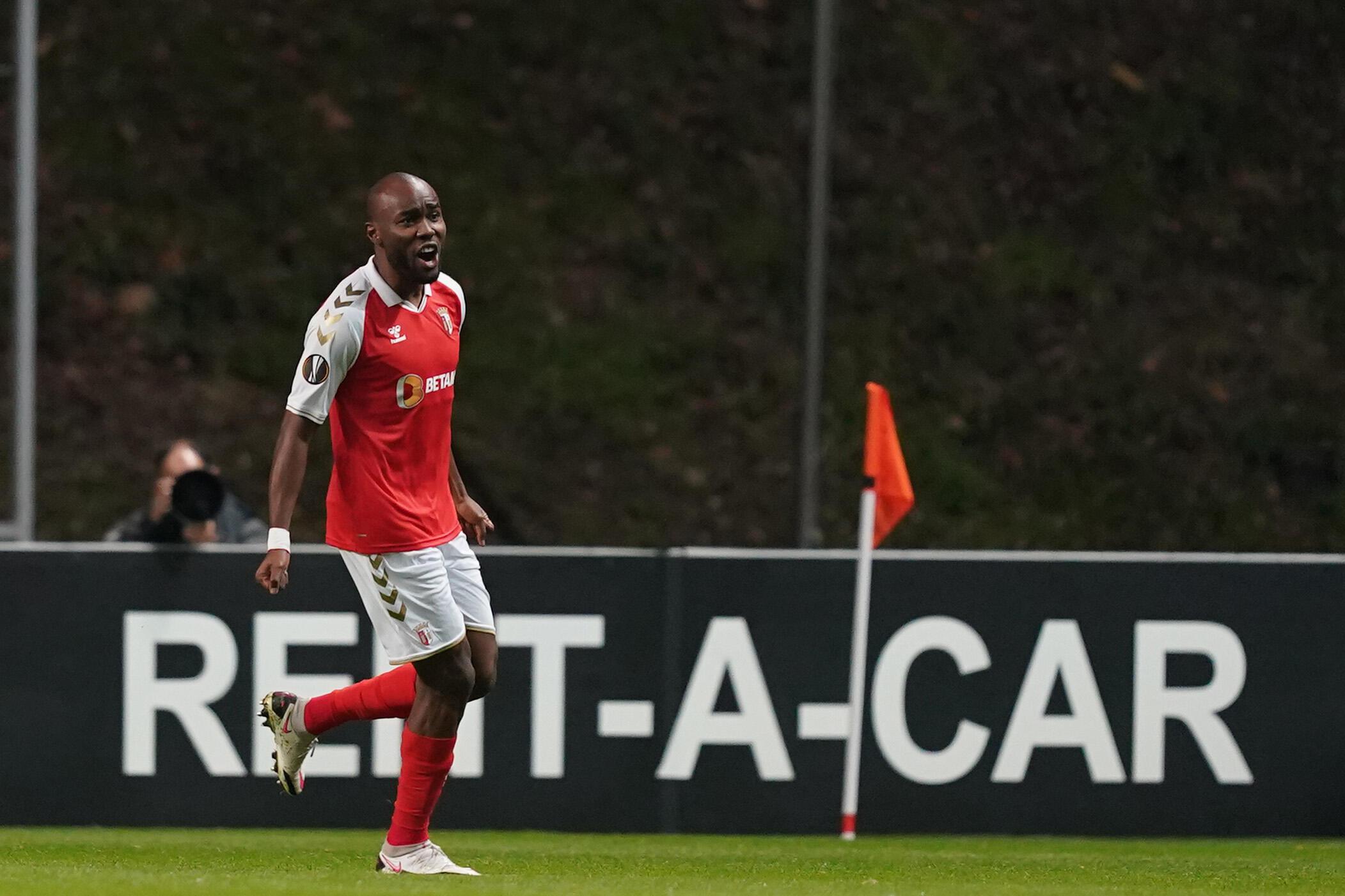 O médio líbio Al Musrati apontou o primeiro tento do Sporting de Braga no empate a três bolas frente ao Leicester.