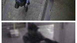 Imagens do autor do ataque divulgadas pela polícia federal belga