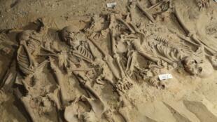Plus de 200 squelettes ont été découverts sous le magasin Monoprix boulevard Sébastopol, à Paris.