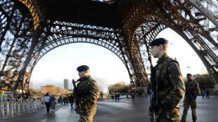 La capitale française a été placée sous haute sécurité depuis les attentats visant «Charlie Hebdo».