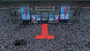 Tổng thống mãn nhiệm Indonesia tại một cuộc mít tinh vận động tranh cử ở Jakarta, ngày 13/04/2019.