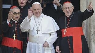 Newly elected Pope Francis, 14 March, 2013
