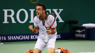 Roberto Bautista Agut reached his first Masters final after beating Novak Djokovic for the first time in six attempts.