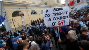"""تظاهرات علیه نشست """"گروه ۷"""""""
