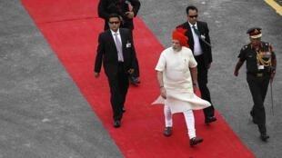 Thủ tướng Ấn Độ Narendra Modi trong lễ quốc khánh 15/08/2014