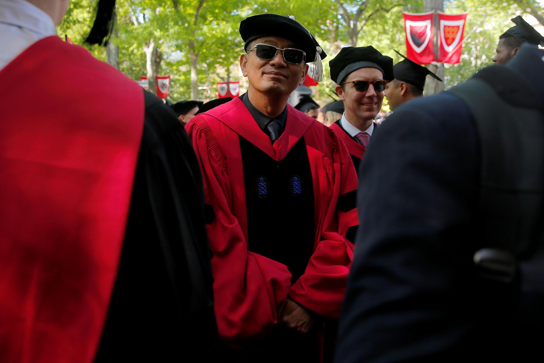 王家卫在哈佛大学