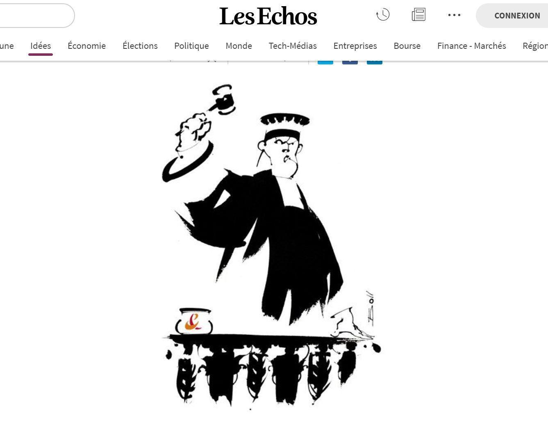 Иллюстрация к процессу Orange в газете Les Echos от 6 мая 2019.