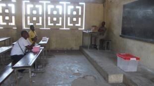 Opération de vote à Brazzaville.