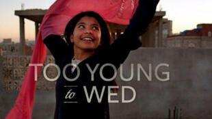 """Campanha """"Muito Novas para Casar"""" (Too Young to Wed), organizada pelo UNFPA e pela VII Photo Agency na sede das Nações Unidas."""