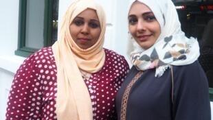 Laila Alshabibi (à gauche) et Dalia Qasim (à droite, sur la photo) travaillent au quotidien avec les femmes au sud et au nord du Yémen, déchiré par le conflit.
