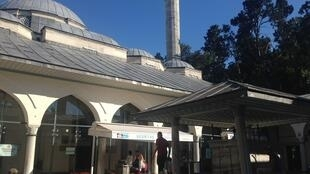 The mosque in Besiktas where prayers were said for Senol Sagman