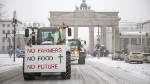 Hundreds of farmers drove their tractors into central Berlin to protest against the government's 'insect protection' draft law