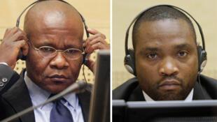Mathieu Ngudjolo (G) et Germain Katanga (D) jugés par la CPI pour crimes de guerre.