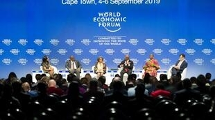 Des participants au Forum économique mondial sur l'Afrique au Cap en Afrique du Sud, le 4 septembre 2019.