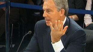 El ex primer ministro Tony Blair durante su comparecencia ante la comisión que investiga la participación de Reino Unido en la invasión a Irak.