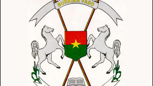 Les armoiries du Burkina Faso.