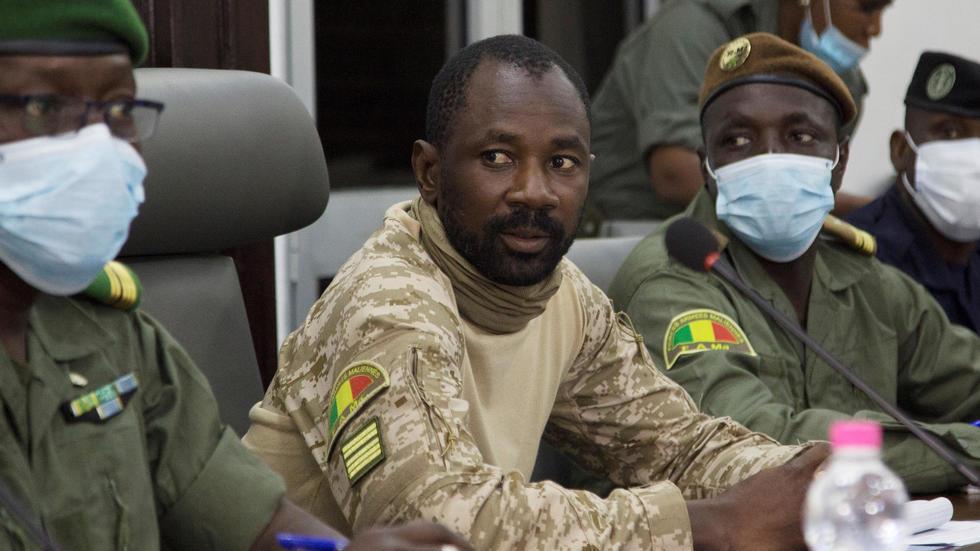Assimi Goïta, le vice-président malien. Photo prise le 22 août 2020 à Bamako.