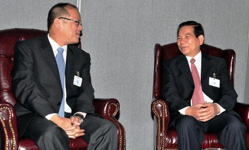 Hai lãnh đạo Philippines và Việt Nam, ông Benigno Aquino và ông Nguyễn Minh Triết  (DR)