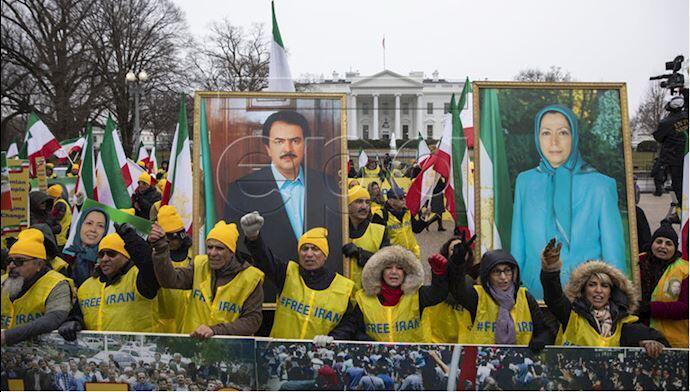 گوشهای از تظاهرات سازمان مجاهدین خلق ایران در واشنگتن