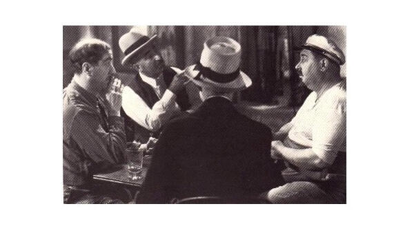 Scène de La Partie de cartes dans «Marius», Marcel Pagnol.