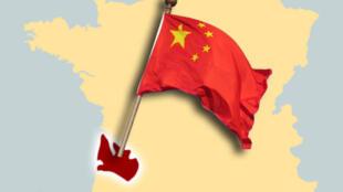 圖為中國購買法國波爾多酒莊引發關注圖