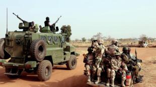 Sojojin Najeriya kan hanyar Chibok a arewacin Borno