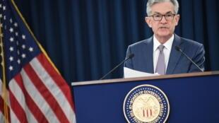 Le président de la Réserve fédérale américaine Jerome Powell, le 3 mars 2020 à Washington.