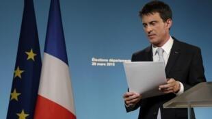 Le Premier ministre Manuel Valls a déploré dimanche 29 mars 2015 une gauche «trop dispersée».