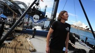 Malcolm Holland, capitaine du principal bateau de Sea Shepherd, le Steve Irwin, à Sydney, en Australie, le 31 août 2012.