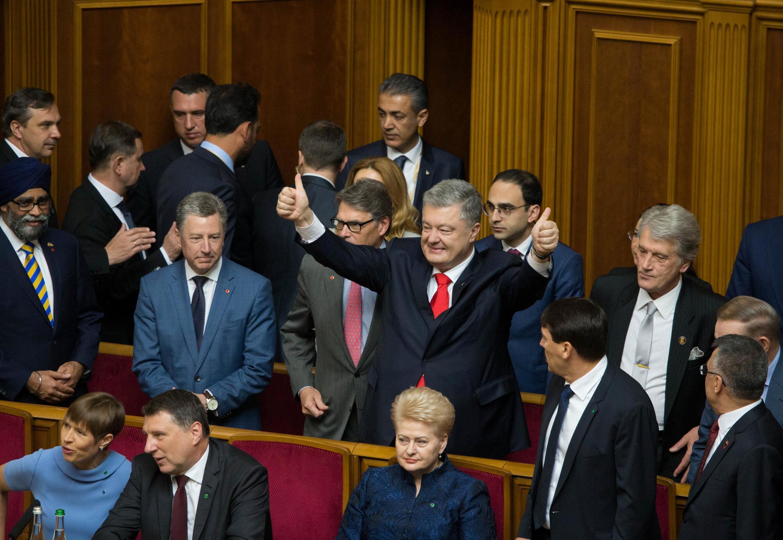 Экс-президент Петр Порошенко на торжественном заседании Верховной Рады, 20 мая 2019